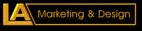 LA Marketing and Design logo
